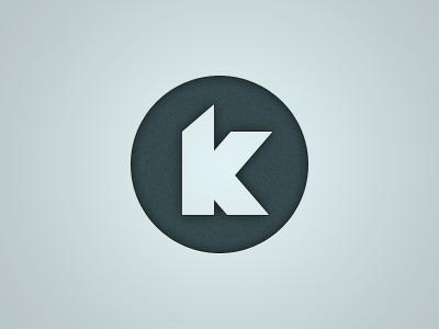 Personal Logo Review personal logo blue circle k dark noise shadow design