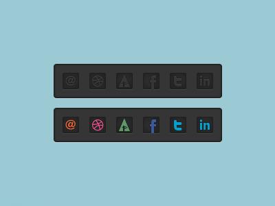 Social Bar icon dribbble forrst twitter facebook linkedin mail gray bar social