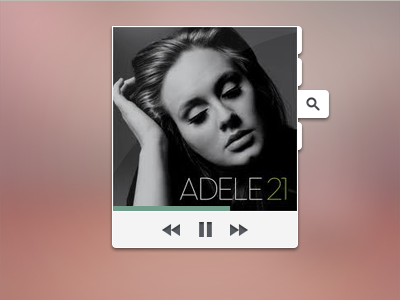 Music Player music media player play stop next pause back forward ui ux design white album search