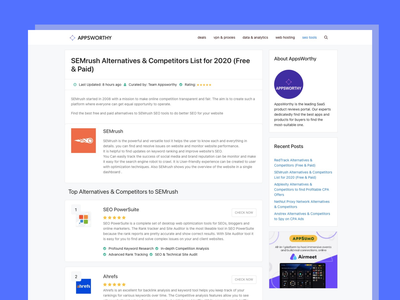 Single Listing Page of Alternative Engine site css branding wordpress appsworthy software tools saas saas app alternatives