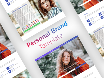 A Design Template for Personal Branding wordpress template elementor branding personal