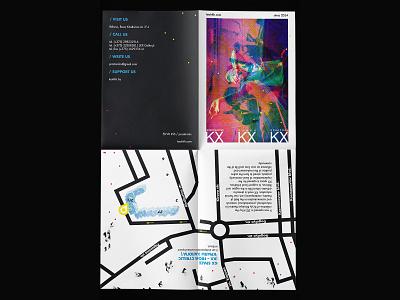 KX space / A4 folded brochure. Part 2 folded paper map design map flyer design typography graphic design noise illustration web branding inspiration digital design