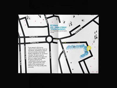 KX space / A4 folded brochure. Part 3 brochure design poster design map design map poster graphic design noise web branding inspiration digital design