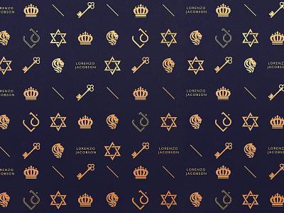 Lorenzo Jacobson / Pattern design mark monogram logo jewellery shop jewellery stationery corporate identity pattern design logo typography graphic design web inspiration digital design branding