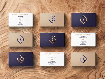 Lorenzo Jacobson / Business cards design jewellery monogram business card typography gold logo corporate identity graphic design inspiration web branding digital design
