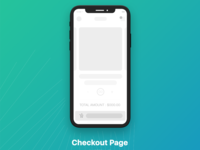 Checkout page wireframe ui
