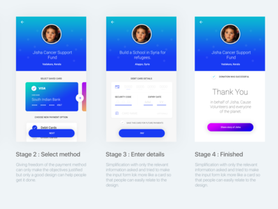 2/2 of Payment process UI, App UI/UX, Payment UX