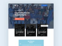 Legal services landing page design