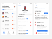 Universal Product Support App UX Driven UI