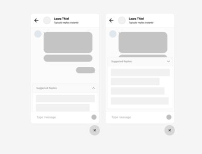 Support chat widget wireframe - UX Workouts