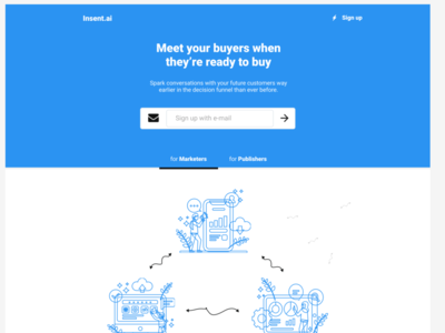 Landing page Wireframe - UX