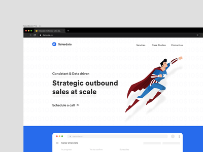 Outbound sales leads service website landing page product design website typography creative  design landing page dashboad sales page