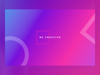Be Creative Gradient Desktop Wallpaper