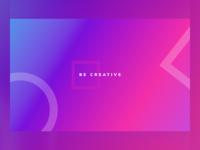 Be Creative Gradient Desktop Wallpaper colours colourful colors colorful desktop wallpaper cyan bright gradient wallpaper desktop creativity creative