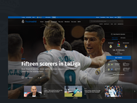 Real Madrid Website Concept