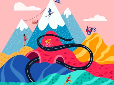 Find your next race race sports illustrator colorful design web illustration