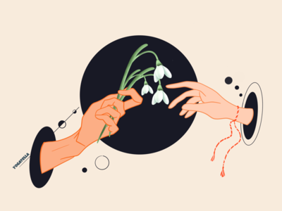 Spring is here designer ui icon ux design snowdrop flowers drawing spring illustrator illustration