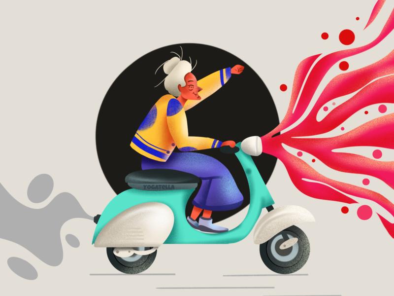 Living this life in style ui designer colorful digital procreate drawing design illustration illustrator