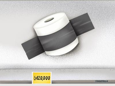 The theory of relativity banana toilet paper product marketing digital art artist illustrator illustration quarantine