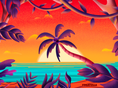 2020: The summer of empty beaches beach summer illustrator editorial digital drawing color palette colorful illustration