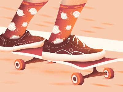 Socks for the quarantine shop shoes color palette fashion vans digital illustrator skateboarding skating illustration