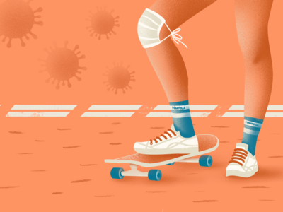 How not to wear a mask marketing mask fashion socks branding skateboarding color palette illustrator illustration