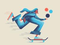 Gone girl graphic design marketing skateboarding skater palette colour illustrator illustration
