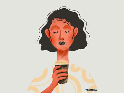 Coffee lover graphic design colorful colors palette design industry shop marketing branding coffee illustrator illustration