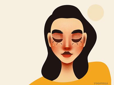 Your date for October digital portrait graphic design design package girl illustrator drawing illustration