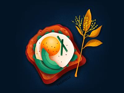 I'll make your eyes drool! art digital graphic designer marketing food illustrator design breakfast toast drawing illustration