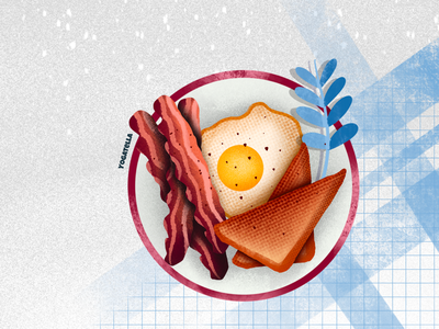Saturday brunch web design restaurant menu graphic designer graphic design digital art artist breakfast food drawing illustrator illustration