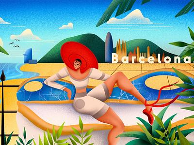 Barcelonatella package spain barcelona typography drawing colorful digital illustrator illustration