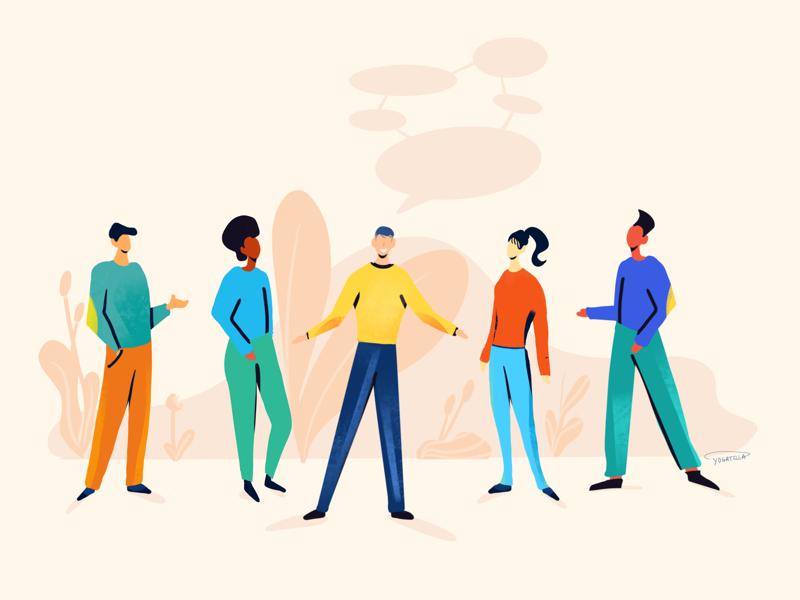 The extrovert procreate people extrovert communication designers design illustrator drawing illustration