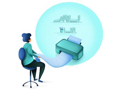 Printing service digital ux drawing colorful web marketing ui design illustrator illustration