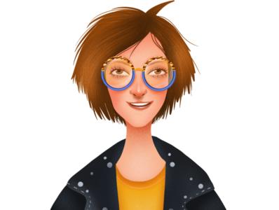 Self portrait branding logo procreate web colorful girl ui drawing digital illustration illustrator