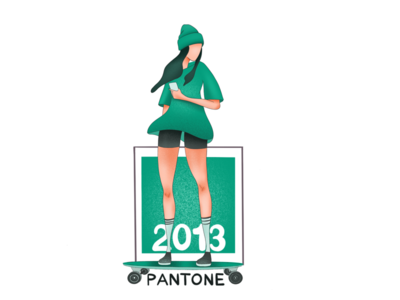 Skating through the colors of the decade colorful artist skater cards illustrator marketing pantone illustration colors