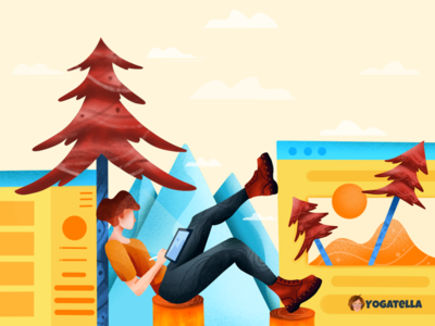 Narcissistic landing page portfolio art artist website marketing ux landing page page ui web designer design colorful illustrator illustration