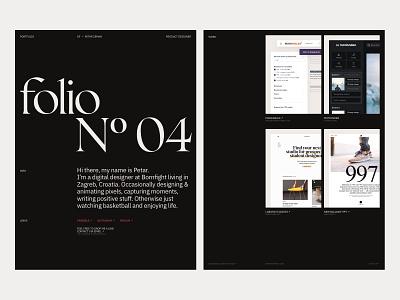 Portfolio — May 1st Reboot portfolio site personal work serif dark ui clean ux vector personal web portfolio branding website web minimal ui typography design