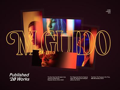 M.Guido — Works scroller dark stroke showcase scroll grid poster layout magazine projects works work header exploration minimal ui typography design