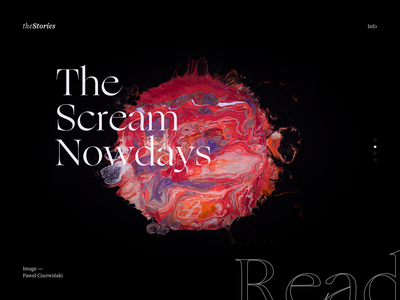 Fractal Scream - theSeries art planet earth displacement painting planet exploration minimal ui web typography design