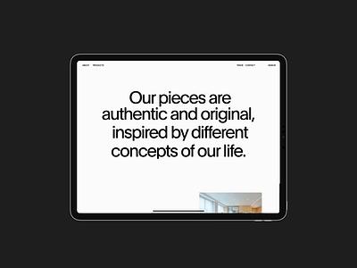 Laborati Ginori behance case case study after effects exploration website smooth 60fps animation slider whitespace minimal web interface interaction ui typography design