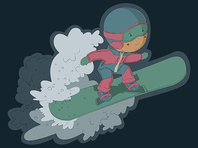 Stickers for Stihiya shop snowboarding snowboard sticker vector character illustration