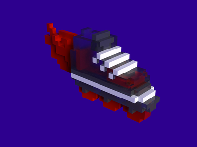 Voxel roller skates 3d roller skate voxel sticker