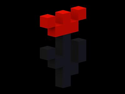 Tulip tulip 3d voxel illustration