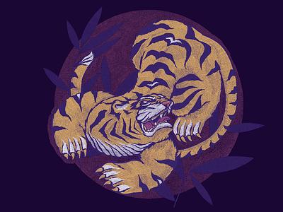Tiger tiger vector illustration print design