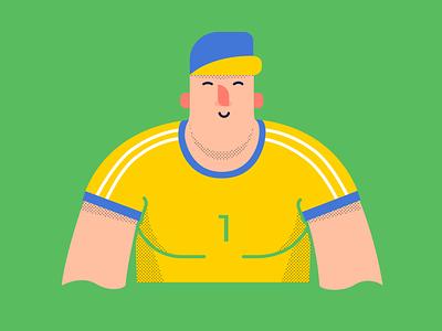 Sportman athlete sport character vector illustration