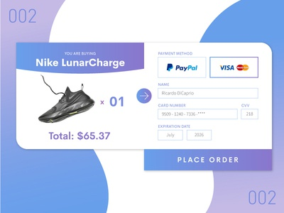 Daily UI 002 - Credit Counter