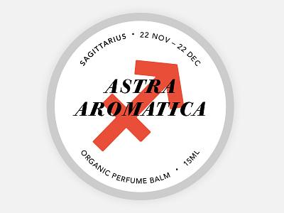Perfume Tin Label - Sagittarius sagittarius balm astrology cosmetics branding round tin label organic zodiac perfume