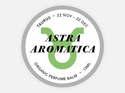 Perfume Tins Label - Taurus taurus balm astrology cosmetics branding round tin label organic zodiac perfume