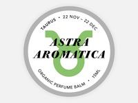 Perfume Tins Label - Taurus